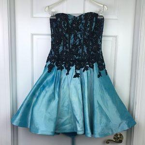 Camille La Vie Lace Up Corset Dress